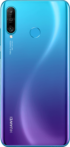 HUAWEI P30 Lite New Edition Frontalansicht peacock blue big